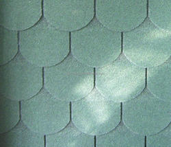 Cheap and colorful round fiberglass asphalt roofing shingles prices