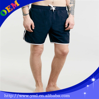polyester spandex mens gym shorts with string and pocket