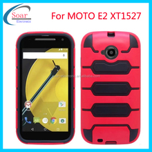 Worm design pc tpu hybrid case for MOTO E2 XT1527 ,plastic case for Moto E2