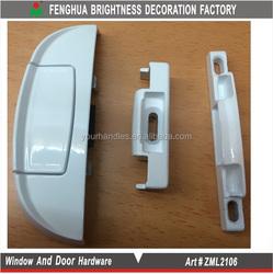 High-security white sliding patio window sash lock