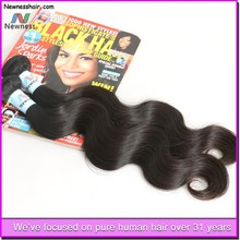 Fast Delivery indique hair extension brazilian virgin hair body wave silky