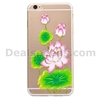 Glitter Powder Crafts Flower TPU Case for iPhone 6 6S Lotus Flowers