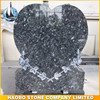 Heart Shaped Blue Pearl Granite Cemetery Headstone Prices
