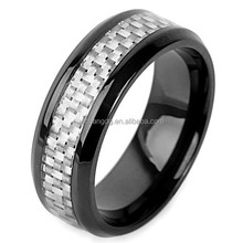 2015 Love Style Stainless Steel Ring,Fashion Design Fiber Inlay Stainless Steel Wedding Rings