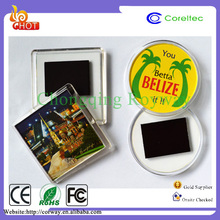 Customized Souvenir Round/Square Blank Acrylic Fridge Magnet