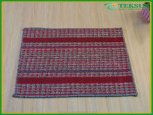 2015 new design home fashion waterproof custom microfiber Lattice fringes anti-slip floor mat