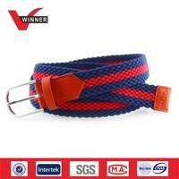 Men and women hot sex western webbing braided belts
