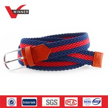 Men and women hot sex western webbing braided belts