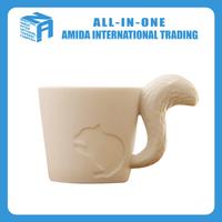 Japanese squirrel shape ceramic cup