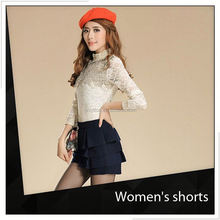 Causal Embroidery Cotton Sexy Women Tight Shorts