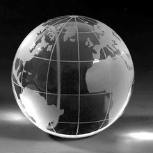 Earth shape decoration Crystal ball for art or collectible