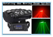 DJ equipment Stage Lighting 8*10w Rgbw 4in1 Led Spider Light Rotating Double Row Sharpy Beam Led Disco Light