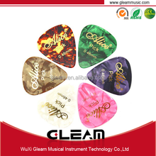 Celluloid Guitar Pick With Gold Stamping Process And Free Sample Available