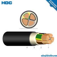 Cu/Al Conductor XLPE PVC Insulated 185mm 4 Core ECC Cable