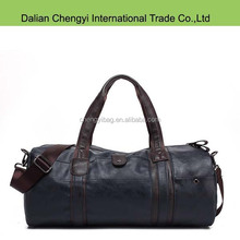 Qualified promotion men outdoor sport luggage pu travel duffel bag