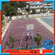 interlocking court flooring basketballer in Guangdong