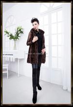 NWV-10001 Ladies Popular Whole-hide Natural Mink Fur Vest