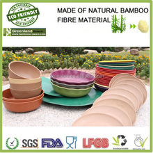 Pretty Appearance Bamboo Fiber Rice&Snack Colorful Bowl For Outdoor Activities ,Bamboo Fiber Tableware Set,Bamboo Dinner Set