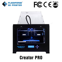 2014 dual extruder metal frame Flashforge Creator Pro 3d printer supplies