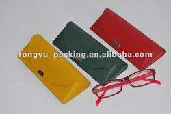 PU leather or PVC hand made aluminum reading glasses case