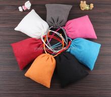 10*20cm In Stock Custom Printed Drawstring Pouch Fabric Velvet Gift Bag
