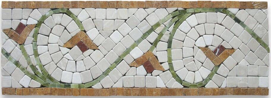 Marble pattern floor design mosaic flower pattern design mosaic medallion buy marble - Deco corridor zwart wit ...