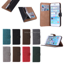 Retro leather cover for iPhone 6, flip case for iphone 6 with stand