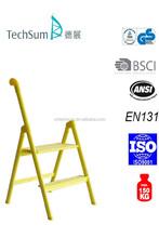 2-step Single Rail Household Alum Ladder(yellow)