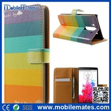 Full Protective PC+PU Leather Case for LG G3 Mini, Mobile Phone Protective Leather Case for LG G3 Mini