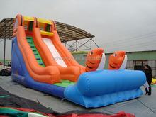 inflatable water slide for rental,water slide price,kids funny playground fish slide for sale