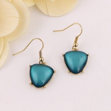 wholesale women accessories semi-precious stone drop earrings