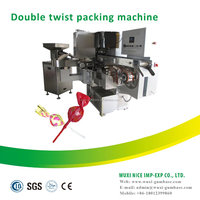 creative stainless steel single color lollipop twist packing machines