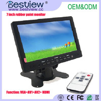 1080p hdmi input 7 Inch LCD Touch Screen Car PC Monitor with VGA
