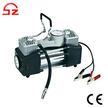 2015 High quality double cylinder portable 12v car air compressor