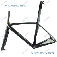 2 Years Warranty Carbon Road Bike Frame Disc Brake With BSA/BB30, Compatible Di2 , Seatpost + Clamp + Fork