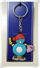 High quality plastic custom Advertisement soft pvc cheap keychain