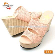 2014 baratos al por mayor de moda de tacón alto damas sandalias de lujo
