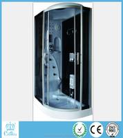 luxury steam shower room/apollo sanitary ware china/tempered glass box doccia