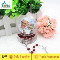 Strict quality control saint wood rosary necklace Wholesale newest