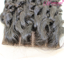 Homeage 3 way part scalp closure cheap stock brazilian silk top lace front closures