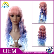 New design fashion red/blond/brown box braid wig synthetic sew in hair wig