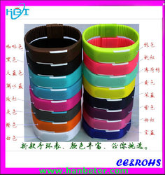 2015 China factory waterproof Touch Digital Bracelet LED sport thin led watch silicone rubber