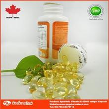 GMP private label oem best vitamin e capsules bulk soft gel capsules