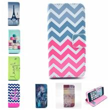 2015 New Luxury Delux Fashion Flip Cover PU Leather Phone Case For iphone 5 5s Wallet Bag Stand Cases