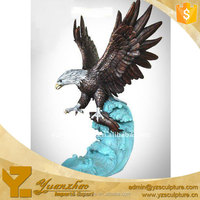 garden animal flying brass eagle sculpture