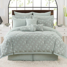 Fashion jacquard comforter bedding set and bed in a bag sets