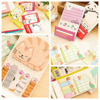 Beautiful Design Excellent Quality Cute For Cat Paw Sticker Memo Marker Bookmark Index Pad Sticky Notes For Decoration