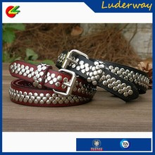 luxury brands handcrafted studded leather belt accessories for female