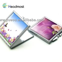 3d led mirror on sale whole sale 1.8mm 425x700 16.5'' x 27.5'' good quality glass sheet mirror aluminum mirror grey back mirror