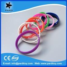 Custom promotional silicon bracelet elastic rubber band bracelet